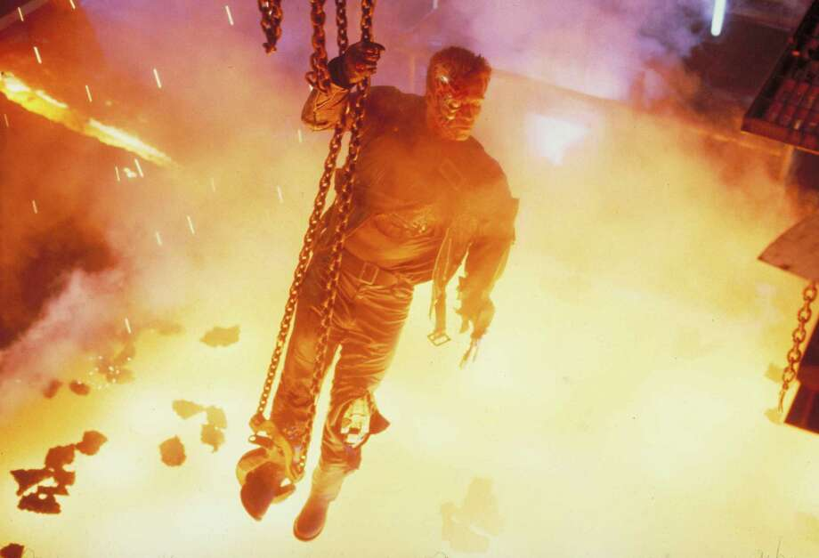 "At the end of ""Terminator 2,"" the Arnold Terminator sacrificed himself. Photo: Lionsgate Home Entertainment"