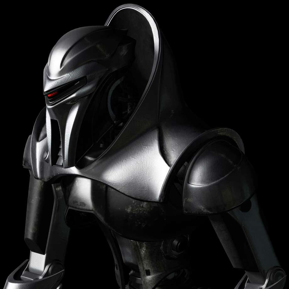 "In the ""Battlestar Galactica"" remake, which debuted in 2003, humans created the Cylons as workers. Photo: Network - SCI FI Channel, Photo Credit - ©Zoic Studios/SCI / Caption -"