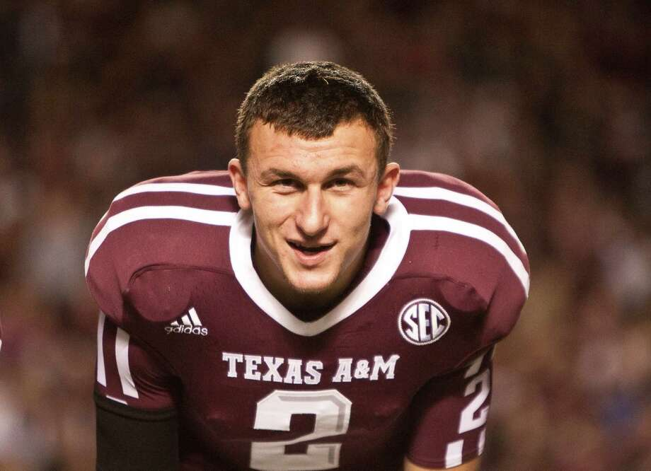 Texas A&M quarterback Johnny Manziel (2) before his game against Missouri, Saturday, Nov. 24, 2012, in Kyle Field in College Station.  ( Nick de la Torre / Houston Chronicle ) Photo: Nick De La Torre, Staff / © 2012  Houston Chronicle
