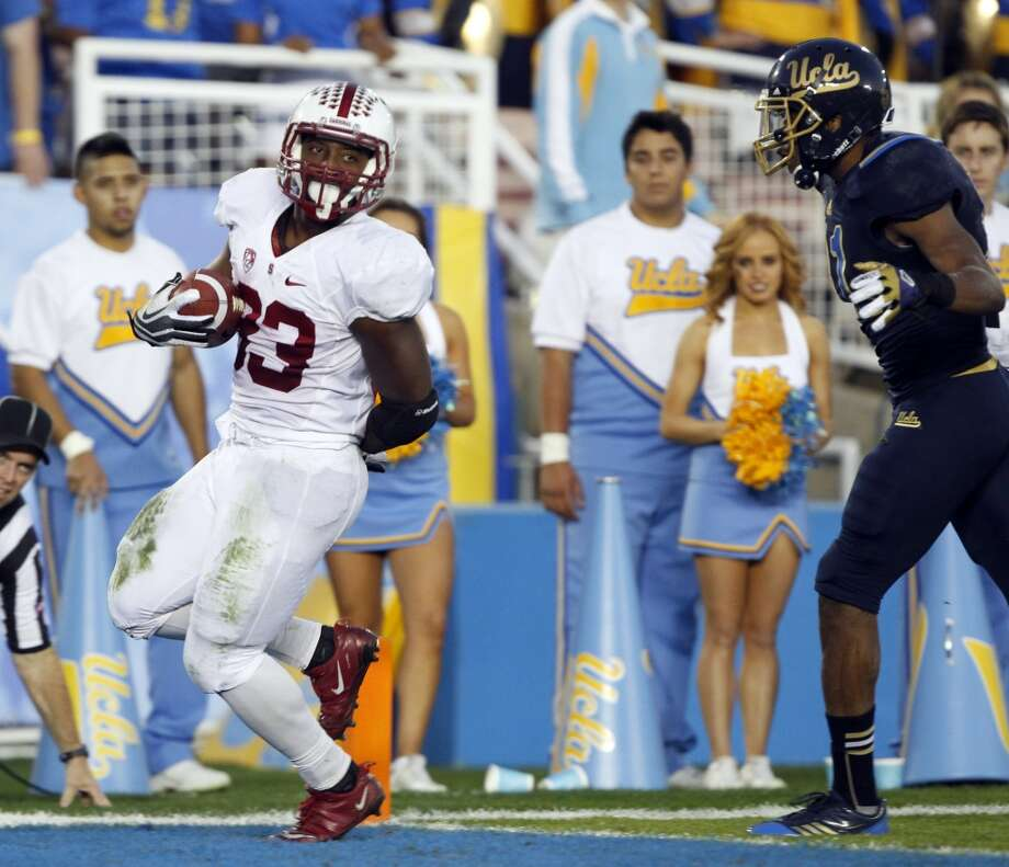 Rose: Nebraska (Big Ten champion) vs. Stanford (Big 12 champion) -- Stanford running back Stepfan Taylor scores against UCLA. (Alex Gallardo / Associated Press)
