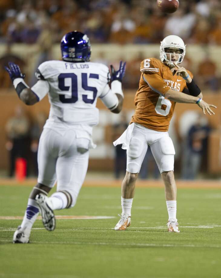 Valero Alamo: Texas (Big 12 No. 3) vs. Oregon State (Pac-12 No. 2)  -- Texas quarterback Case McCoy passes the ball against TCU.  (Cooper Neill / Getty Images)