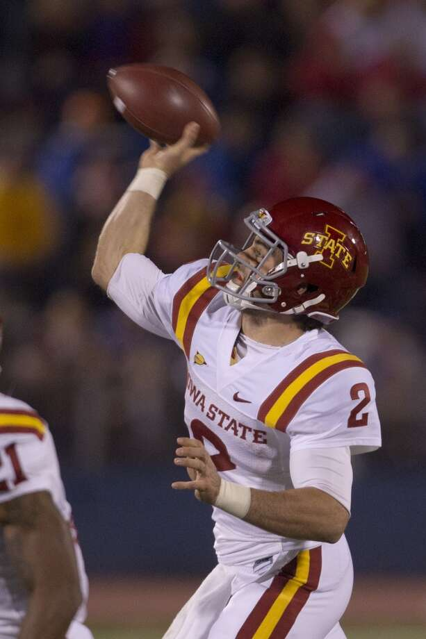 Independence*: Iowa State (Big 12 No. 9) vs. Louisiana Tech (at-large) * Note: Some bowls will not be able to fill their slots. Iowa State and Louisiana Tech will fill open spots for the Independence Bowl.  -- Iowa State quarterback Steele Jantz passes against Kansas.  (Orlin Wagner / Associated Press)