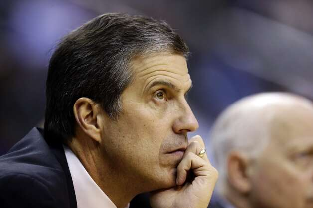 Washington Wizards head coach Randy Wittman watches his team in the second half of an NBA basketball game against the San Antonio Spurs, Monday, Nov. 26, 2012, in Washington. The Spurs won 118-92. (AP Photo/Alex Brandon) (Associated Press)