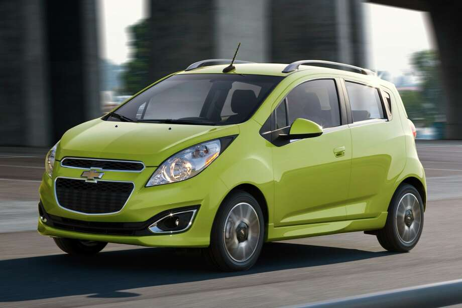 Chevy's 2013 Spark five-door hatchback will be offered in vibrant colors. Photo: General Motors / License Agreement - Please read