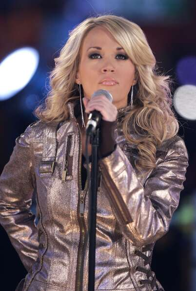 Carrie Underwood performs during the New Years eve celebration at Times Square in New York, Monday,