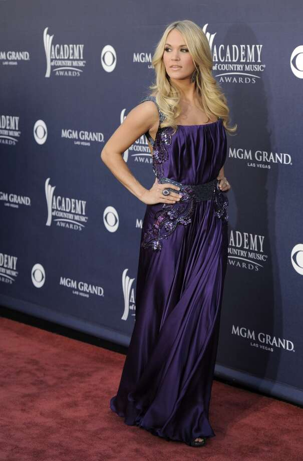 Carrie Underwood arrives at the 46th Annual Academy of Country Music Awards in Las Vegas on Sunday, April 3, 2011. (AP Photo/Chris Pizzello) (AP)