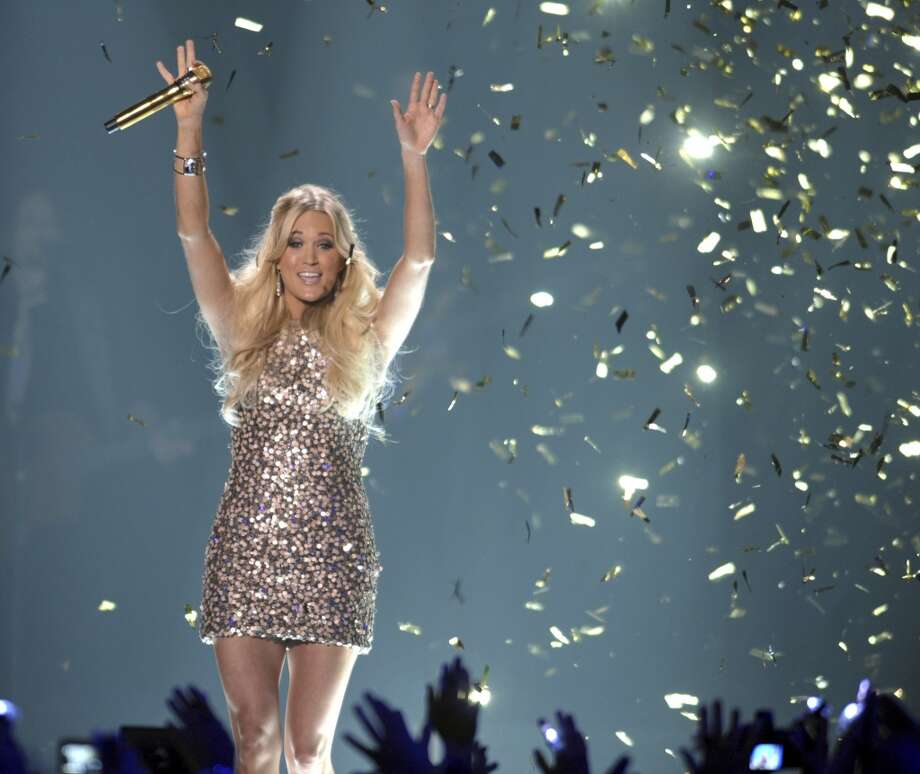 Singer Carrie Underwood performs at the 2012 CMT Music Awards on Wednesday, June 6, 2012 in Nashville, Tenn. (Photo by John Shearer/Invision/AP) (JOHN SHEARER/INVISION/AP)