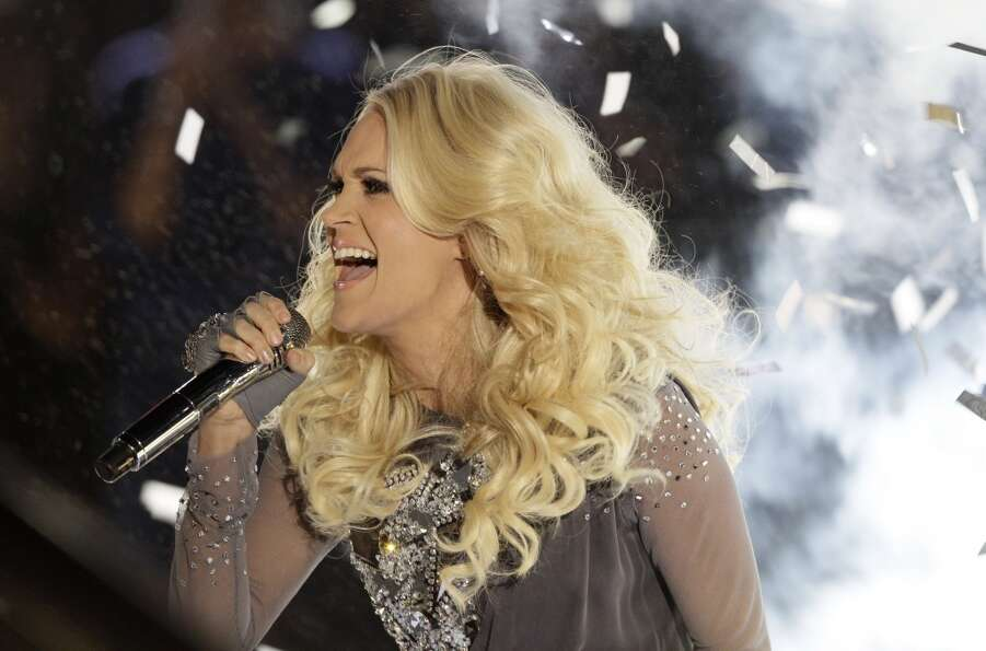 Carrie Underwood performs onstage at the 46th Annual Country Music Awards at the Bridgestone Arena o