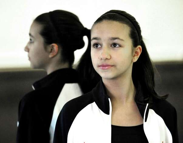 Mckenna Beirne, 13, takes dance instruction at Seven Stars School for the Performing Arts in Brewster, N.Y., Monday, Nov.26, 2012. Photo: Michael Duffy / The News-Times