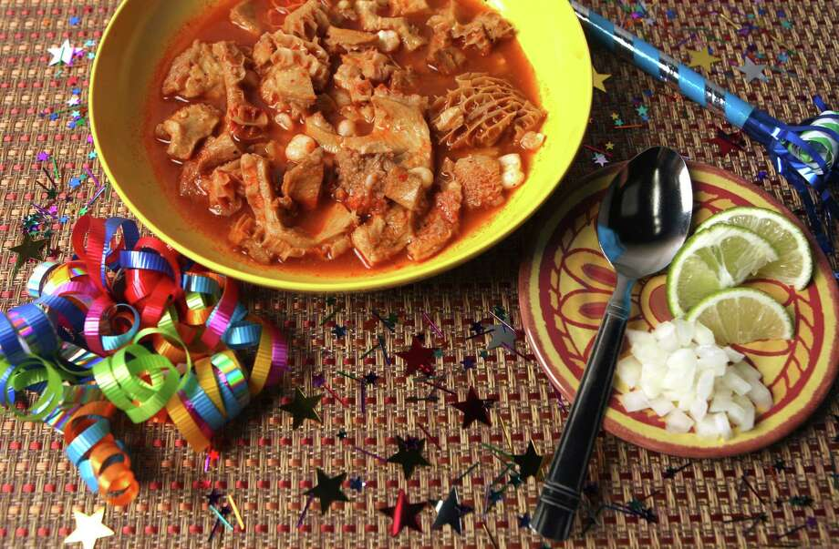 Menudo, a popular Mexican soup served at special occasions and holidays. Photo: HELEN L. MONTOYA, SAN ANTONIO EXPRESS-NEWS / hmontoya@express-news.net