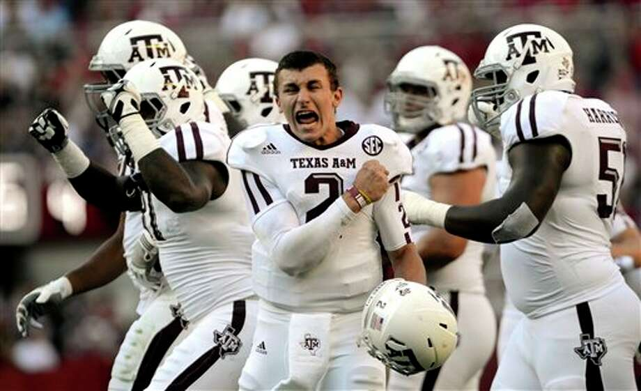 Two Texas schools offered scholarships for Johnny Manziel to play quarterback - Texas A&M ... and Rice. Photo: Gary Cosby Jr., AP / The Decatur Daily