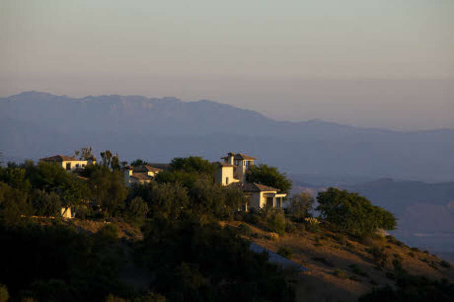 Hagman's former retreat is perched on a mountaintop. (Prudential California Realty)