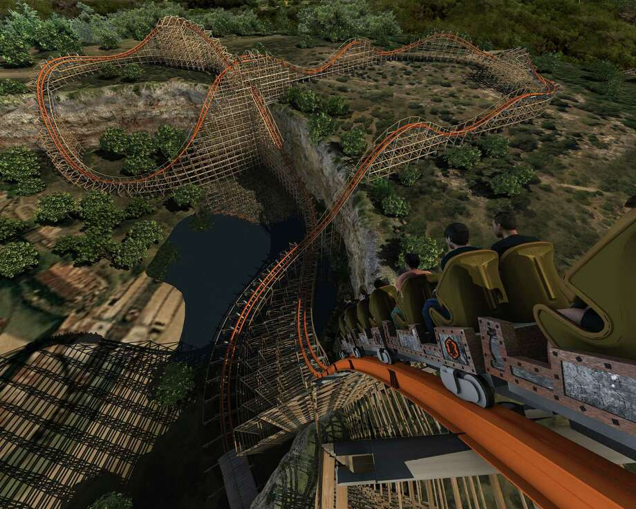 Now, with $500 million you could afford 5,556,172 gold season passes at Fiesta Texas and try the new Rattler. Photo: Express-News/File Photo