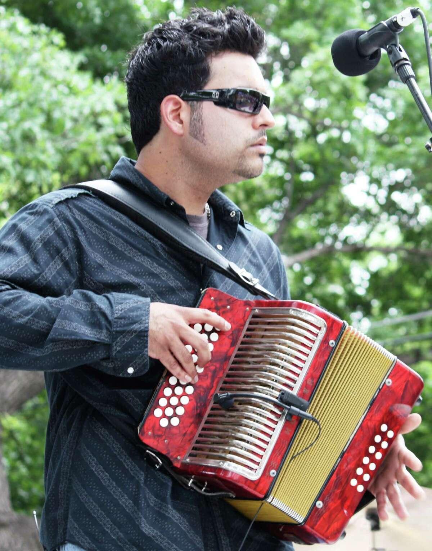San Antonio accordion ace Michael Guerra celebrates his debut album at a CD release party Friday. Robert Johnson/ Express-News