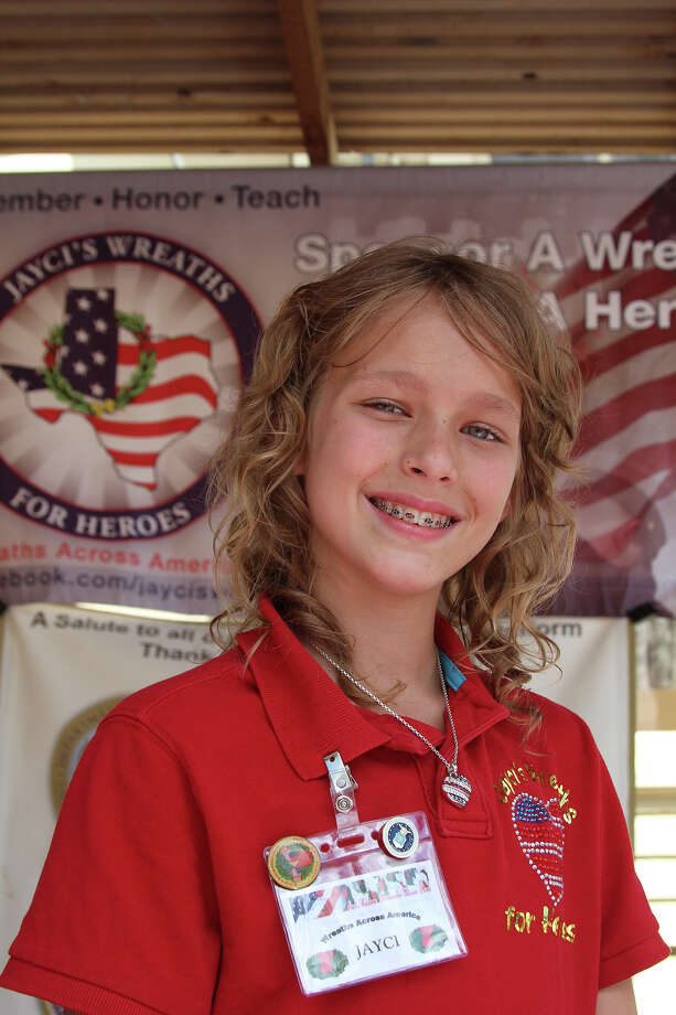 Jayci Derby, 12, has launced a campaign to ensure that veterans' graves don't go without the recognition of a wreath this Christmas. Photo: Lauri Gray Eaton / Northwest Wee