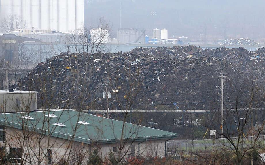 Huge piles of scrap metal bound for Turkey are seen at the Port of Rensselaer from Route 20 Tuesday Nov. 27, 2012 in Rensselaer, N.Y. (Lori Van Buren / Times Union) Photo: Lori Van Buren