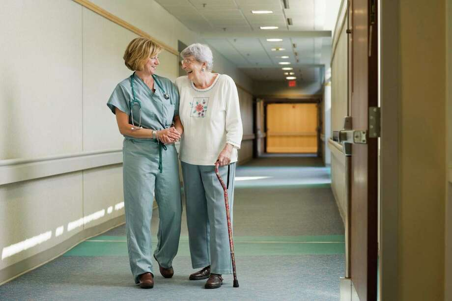 Caring for seniors is a growing niche in the health-care industry, and there are job opportunities outside hospitals, including nursing homes and similar facilities for nurses and other health-care professionals. Photo: Jupiterimages / Comstock Images