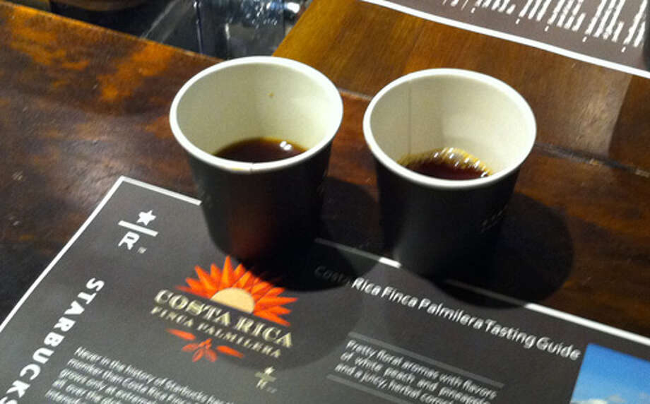 Starbucks' new Geisha coffee is rare, pricey and only available in certain Pacific Northwest stores. In Seattle, only 22 stores carry it. You tell us - is it worth the price? (Photo: seattlepi.com).