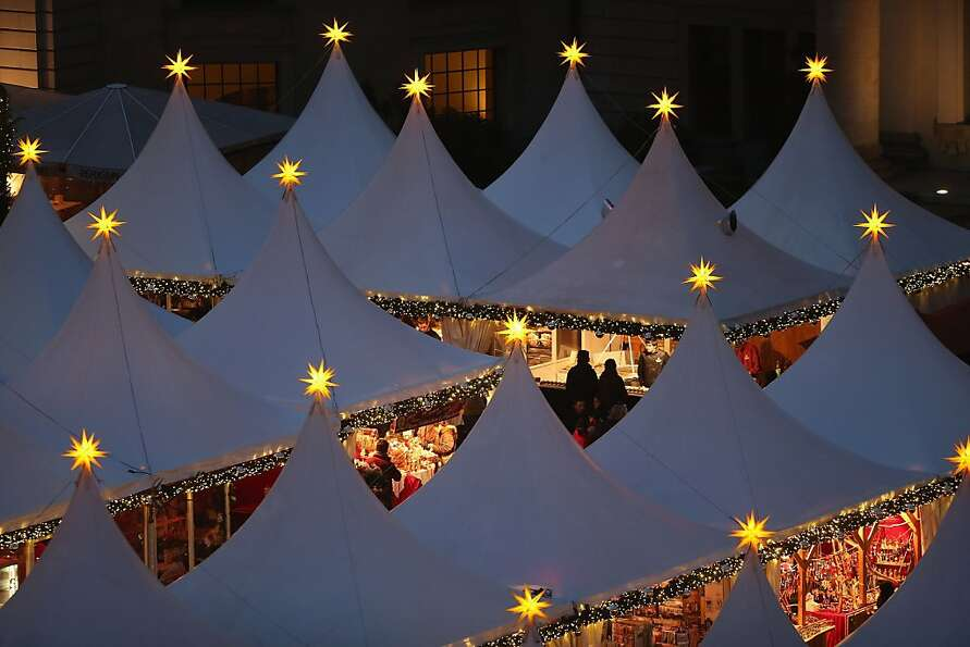 Yule for the city: The annual Christmas market at Gendarmenmarkt opens for business in Berlin