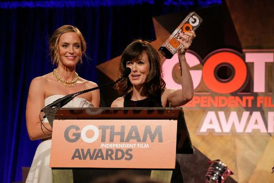 (L-R) Emily Blunt and Rosemarie DeWitt attend the IFP's 22nd Annual Gotham Independent Film Awards a
