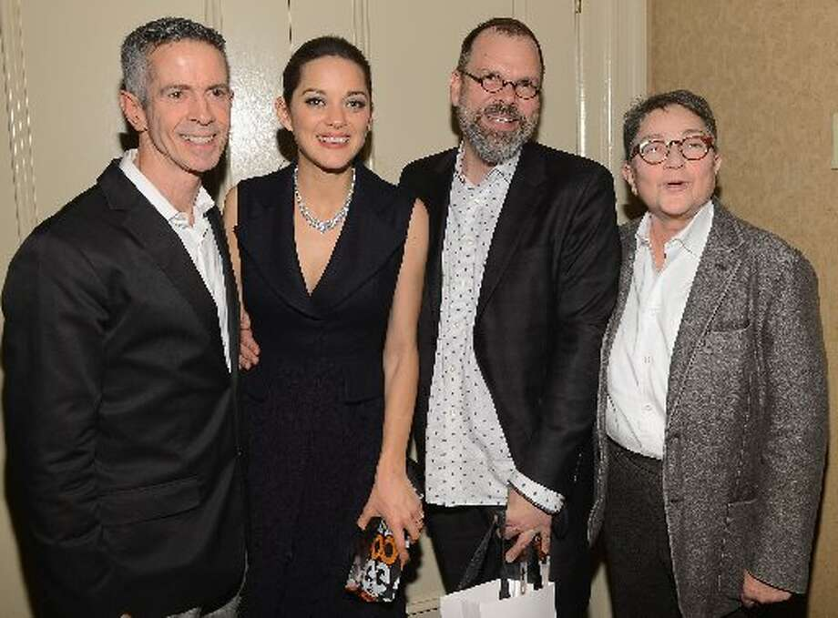 Peter Staley, Marion Cotillard, David France, and Joy A. Tomchin attend the IFP's 22nd Annual Gotham Independent Film Awards at Cipriani Wall Street on November 26, 2012 in New York City. (Photo by Larry Busacca/Getty Images for IFP) (Getty)
