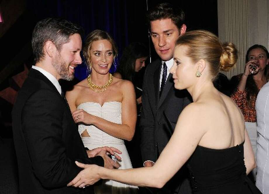 (L-R) Darren Le Gallo, actors Emily Blunt, John Krasinski and Amy Adams attend the IFP's 22nd Annual Gotham Independent Film Awards at Cipriani Wall Street on November 26, 2012 in New York City. (Photo by Bryan Bedder/Getty Images for FIJI Water) (Getty)