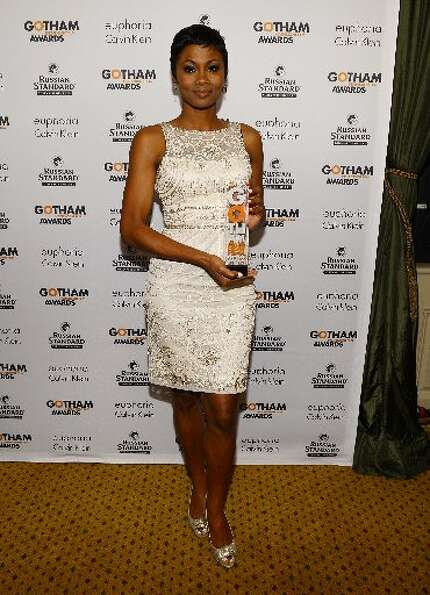 Actress Emayatzy Corinealdi attends the IFP's 22nd Annual Gotham Independent Film Awards at Cipriani
