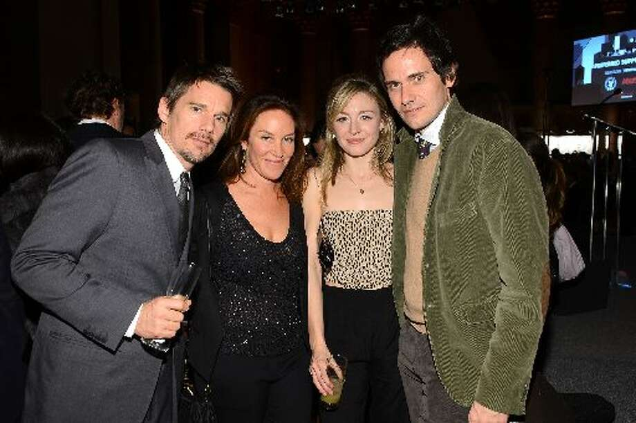 Ethan Hawke (L), Juliet Rylance, and Christian Camargo attend the IFP's 22nd Annual Gotham Independent Film Awards at Cipriani Wall Street on November 26, 2012 in New York City. (Photo by Larry Busacca/Getty Images for IFP) (Getty)