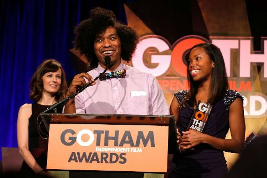 Rosemarie DeWitt, Terence Nance, and Namik Minter speak onstage at the IFP's 22nd Annual Gotham Independent Film Awards at Cipriani Wall Street on November 26, 2012 in New York City. (Photo by Jemal Countess/Getty Images for IFP) (Getty)