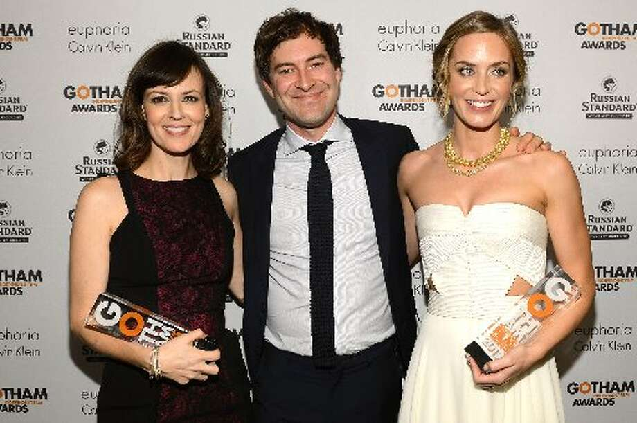 (L-R) Rosemarie DeWitt, Mark Duplass, and Emily Blunt attend the IFP's 22nd Annual Gotham Independent Film Awards at Cipriani Wall Street on November 26, 2012 in New York City. (Photo by Larry Busacca/Getty Images for IFP) (Getty)