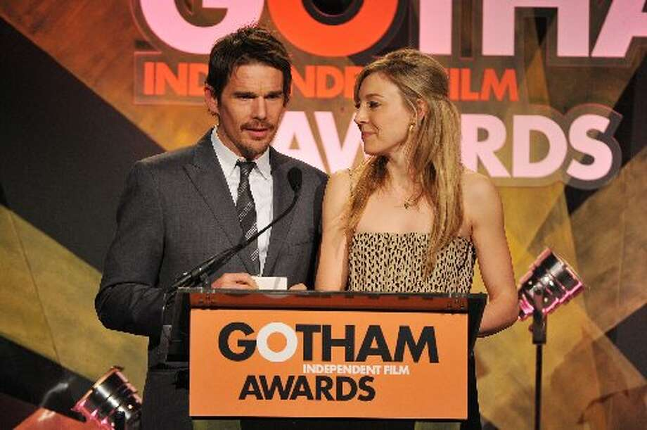 Ethan Hawke and Juliet Rylance speak onstage at the 22nd Annual Gotham Independent Film Awards at Cipriani Wall Street on November 26, 2012 in New York City. (Photo by Theo Wargo/Getty Images for IFP) (Getty)