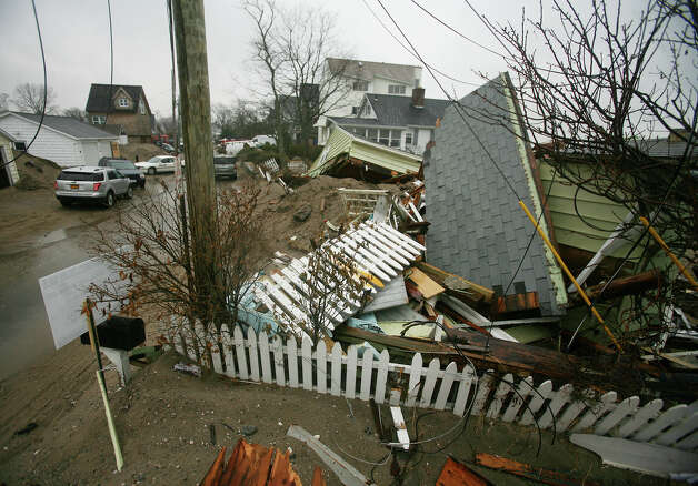 A section of homes devastated by Hurricane Sandy on Fairfield Beach Road in Fairfield on Tuesday, November 27, 2012. Photo: Brian A. Pounds / Connecticut Post