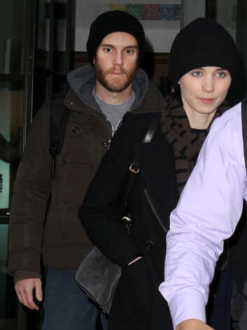 Rooney Mara and Charlie McDowell Apparently this couple got a two-for-one special on winter hats.