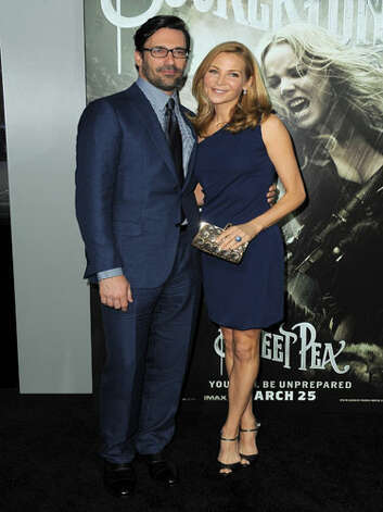 Jon Hamm and Jennifer Westfeldt Apparently Don Draper gets his swagger from wearing his 'n' hers outfits.