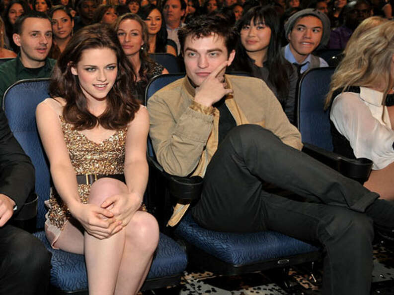 Kristen Stewart and Robert Pattinson And they actually tried to pretend