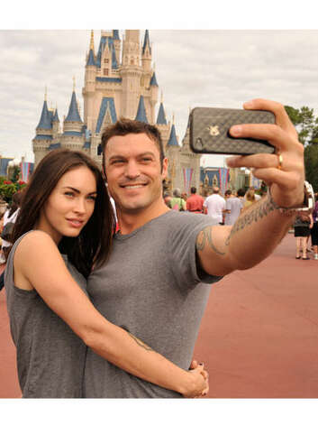Megan Fox and Brian Austin Green The couple that wears grey tees together...