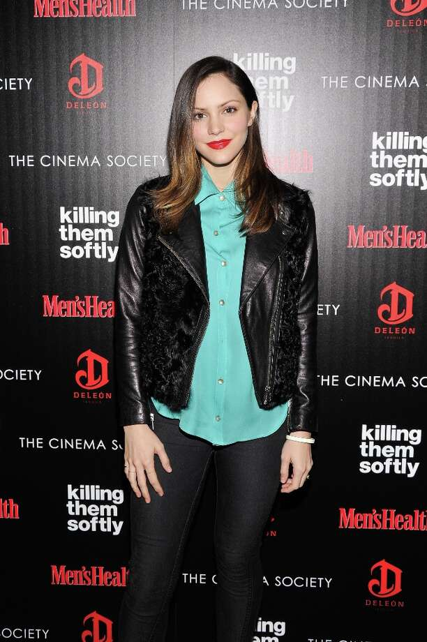 "Singer Katharine McPhee attends The Cinema Society with Men's Health and DeLeon hosted screening of The Weinstein Company's ""Killing Them Softly"" on November 26, 2012 in New York City.  (Photo by Stephen Lovekin/Getty Images) Photo: Stephen Lovekin, Getty Images / 2012 Getty Images"