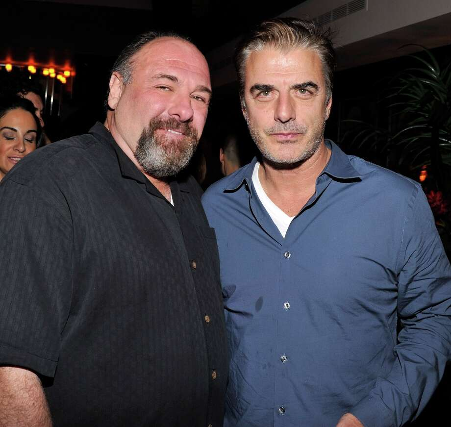 "Actors James Gandolfini and Chris Noth attend the after party for a screening of The Weinstein Company's ""Killing Them Softly"" hosted by The Cinema Society With Men's Health And DeLeon on November 26, 2012 in New York City.  (Photo by Stephen Lovekin/Getty Images) Photo: Stephen Lovekin, Getty Images / 2012 Getty Images"