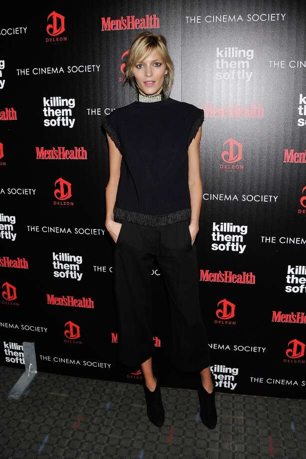 "Model Anja Rubik attends The Cinema Society with Men's Health and DeLeon hosted screening of The Weinstein Company's ""Killing Them Softly"" on November 26, 2012 in New York City.  (Photo by Stephen Lovekin/Getty Images) Photo: Stephen Lovekin, Getty Images / 2012 Getty Images"