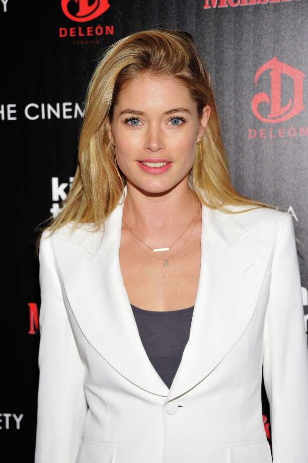 "Model Doutzen Kroes attends The Cinema Society with Men's Health and DeLeon hosted screening of The Weinstein Company's ""Killing Them Softly"" on November 26, 2012 in New York City.  (Photo by Stephen Lovekin/Getty Images) Photo: Stephen Lovekin, Getty Images / 2012 Getty Images"