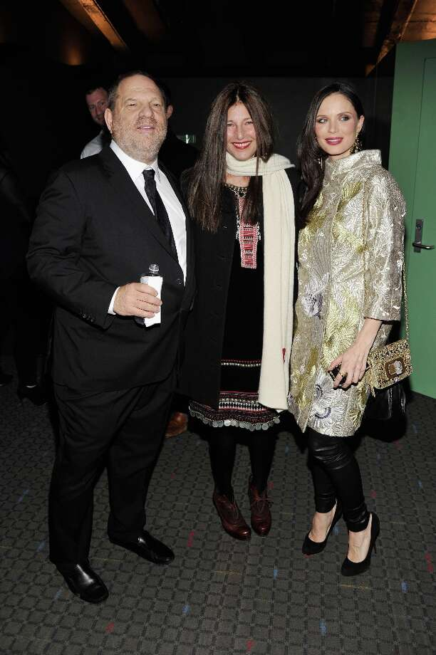 "(L-R) Harvey Weinstein, Catherine Keener, and Georgina Chapman attend The Cinema Society with Men's Health and DeLeon hosted screening of The Weinstein Company's ""Killing Them Softly"" on November 26, 2012 in New York City.  (Photo by Stephen Lovekin/Getty Images) Photo: Stephen Lovekin, Getty Images / 2012 Getty Images"