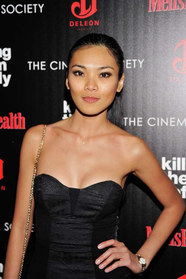 "Model Meki Saldana attends The Cinema Society with Men's Health and DeLeon hosted screening of The Weinstein Company's ""Killing Them Softly"" on November 26, 2012 in New York City.  (Photo by Stephen Lovekin/Getty Images) Photo: Stephen Lovekin, Getty Images / 2012 Getty Images"