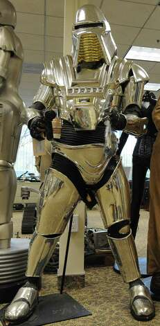 """The Cylons, from """"Battlestar Galactica,"""" are a classic example of intelligent robots trying to kill us. The Cylons in the original TV show, from 1978 and 1980, had been created by a race of the same name, which then died out. Photo: MARK RALSTON, AFP/Getty Images / 2009 AFP"""