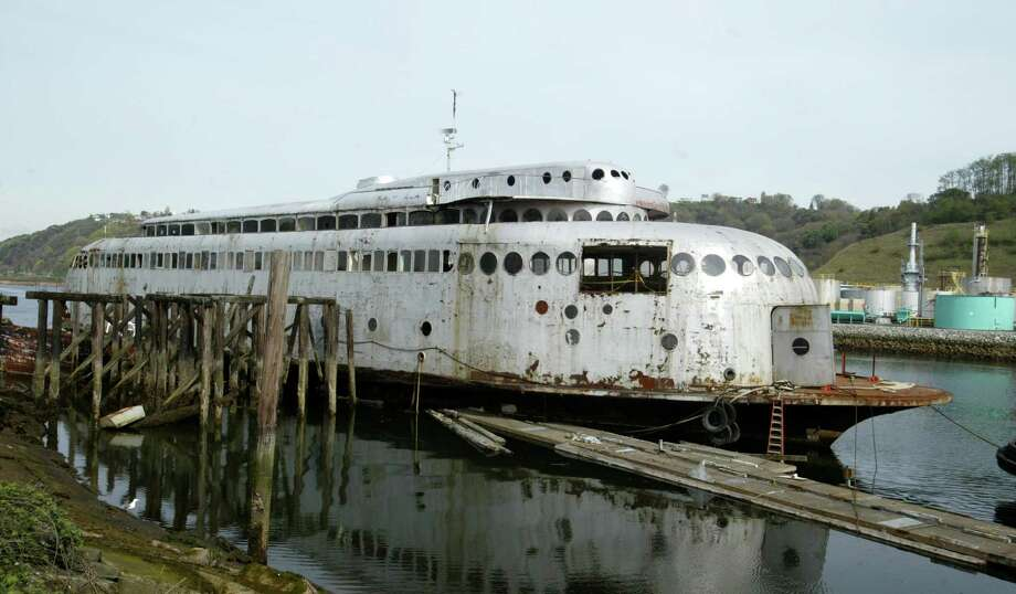 1. Buy the old, rotting, historic Kalakala ferry.Then watch the rest of your winnings sink to the bottom of Lake Union as you become the latest unlucky soul who tries to renovate it. Photo: Scott Eklund / Seattle Post-Intelligencer