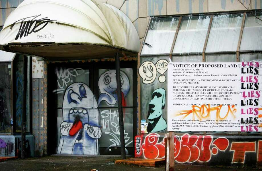 8. Buy the old Tubs building in the U-District and fix it up.It could be a new music venue, or a comedy club, or a restaurant. Just don't make it into another shady place where you can rent out hot tubs by the hour. That was weird.Suggested by seattlepi.com reader Matthew O'Brien via Facebook. Photo: Joshua Trujillo, Seattle Post-Intelligencer / Seattle Post-Intelligencer