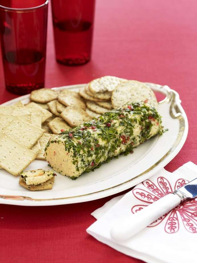 Good Housekeeping recipe for Pimento Cheese Log. Photo: Kate Mathis