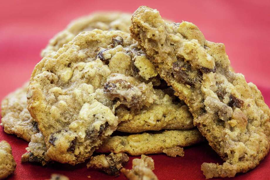 This oatmeal cookie recipe is unusual for its process of letting the raisins soak in beaten eggs. Photo: Michael Paulsen, Staff / © 2012 Houston Chronicle