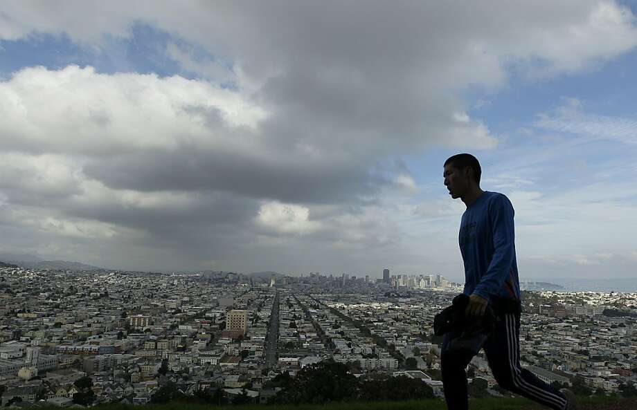 San Francisco is a great place to walk. No ice, no snow, and the hills offer beautiful views. Walk San Francisco is working to widen sidewalks and create safer crossings and calmer traffic. Photo: Jeff Chiu, Associated Press
