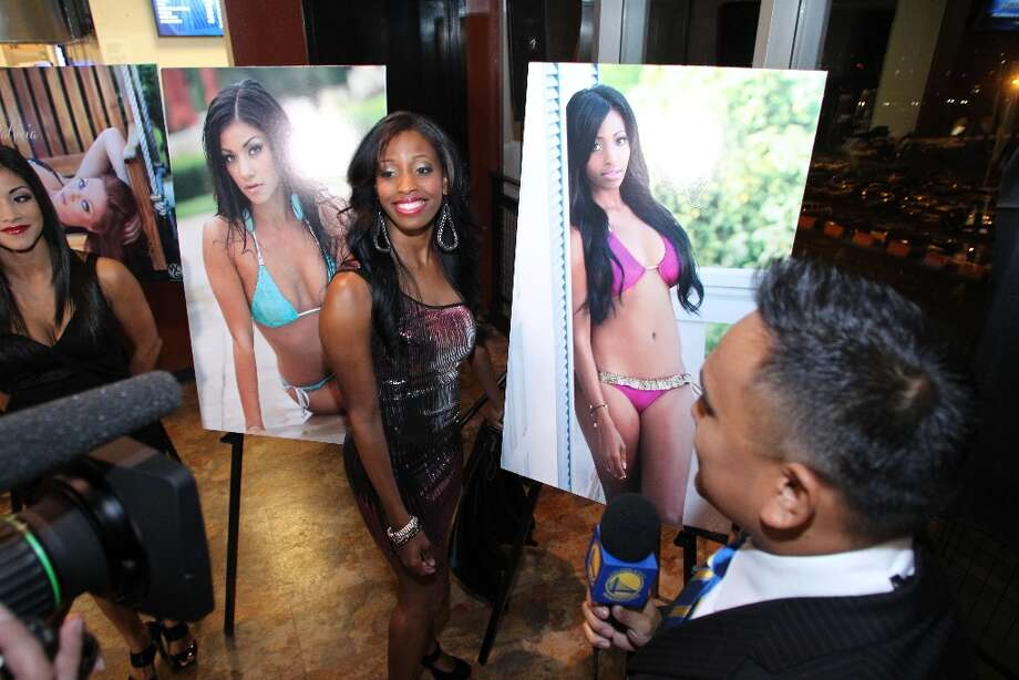 The Warriors Girls attend a launch party for their 2012 swimsuit calendar. (Courtesy Warriors.com) Photo: Icon Pros