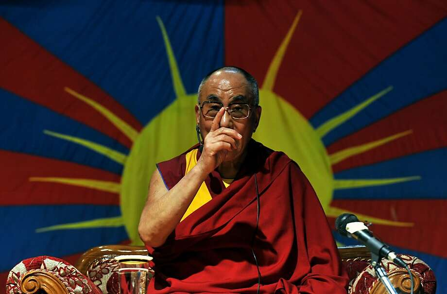 The Dalai Lama, the Tibetan spiritual leader, addresses members of the Tibetan community in Bangalore, India. Photo: Manjunath Kiran, AFP/Getty Images